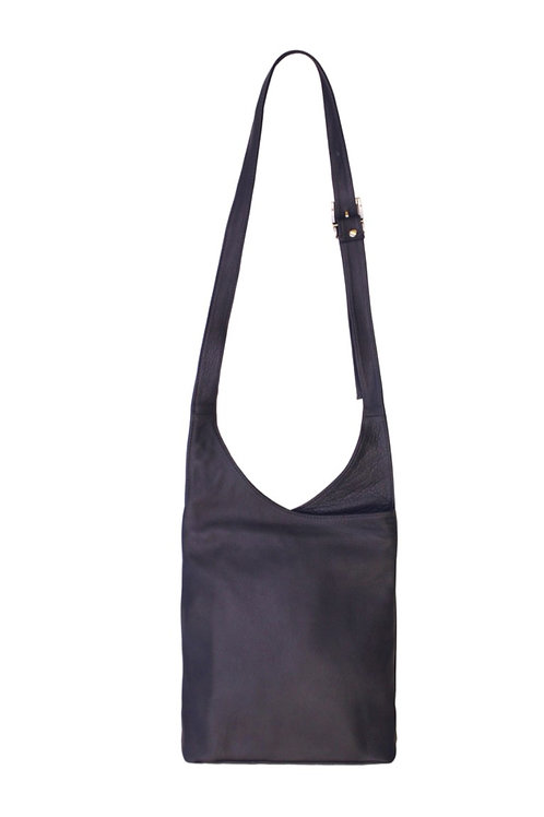 Dark Grey Slouchy Crossbody Bag