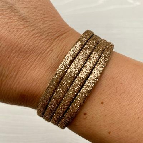 Gold Glitter Wrap Bracelet