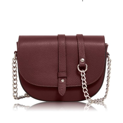 Burgundy Chain Strap Bag