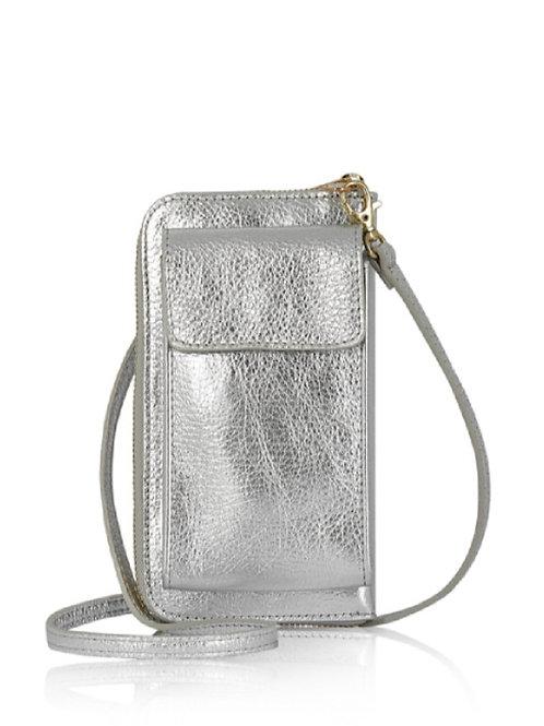 Silver Wallet/ Crossbody Phone Bag