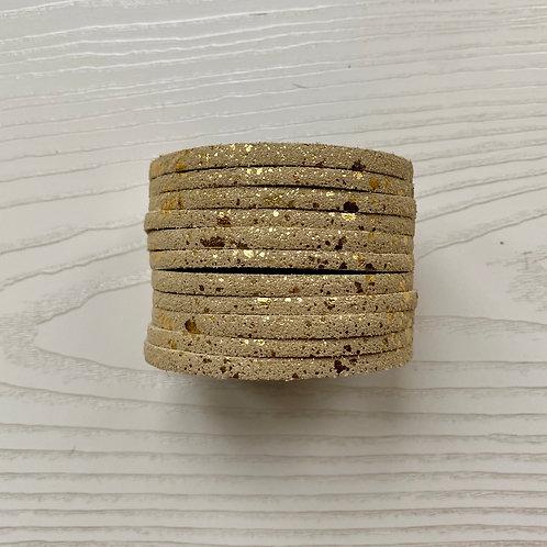 Mottled Gold Wrap Bracelet