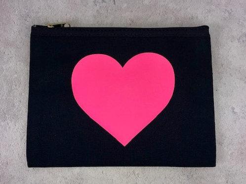 Pink Heart Large Make Up Bag