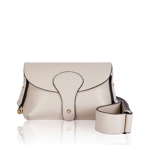 Cream Chunky Strap Crossbody Bag