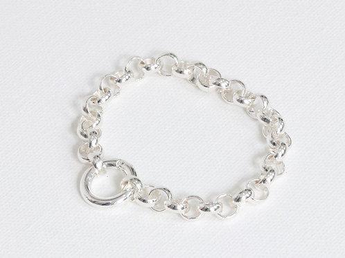 Cornelia Silver Belcher Chain Bracelet With Lock