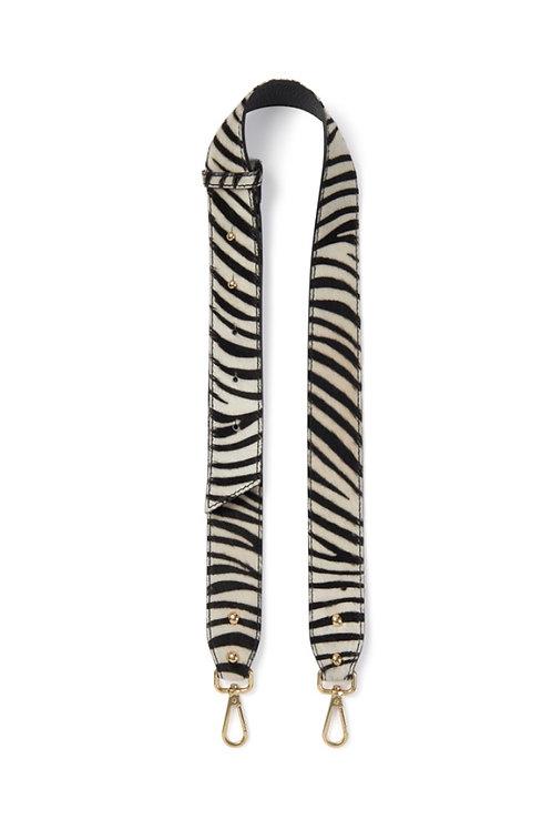 Zebra Print Leather Chunky Strap