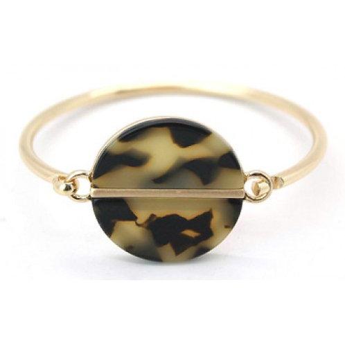 Gold Tortoiseshell Resin Bangle