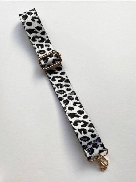 Black & Grey Animal Print Bag Strap