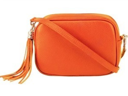 Burnt Orange Cross Body Bag with Tassel