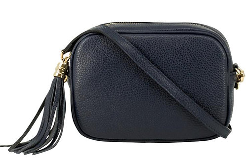 Black Cross Body Bag with Tassel