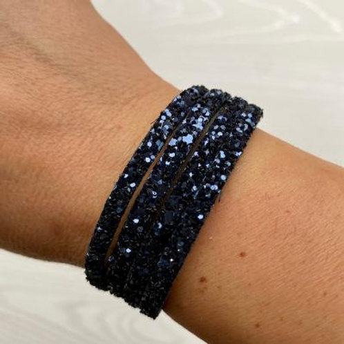 Navy Sparkle Wrap Bracelet