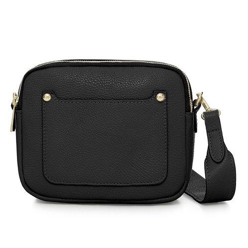 Black Double Zip Crossbody Bag