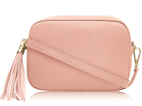 Pale Pink Cross Body Bag with Tassel