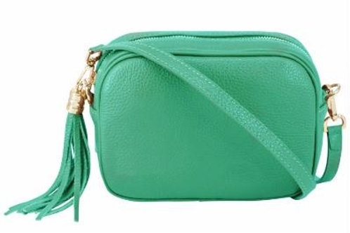 Aqua Cross Body Bag with Tassel