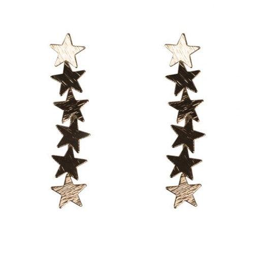 Iris Gold Star Constellation Earrings