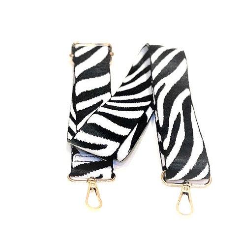 Zebra Print Bag Strap