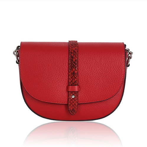 Red & Snake Chain Strap Bag
