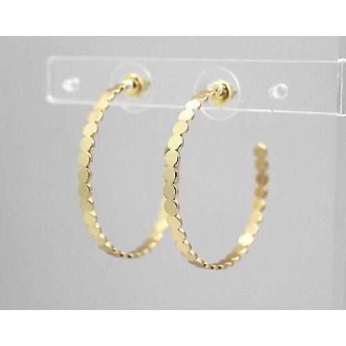 Gold Small Circles Hoop Earrings