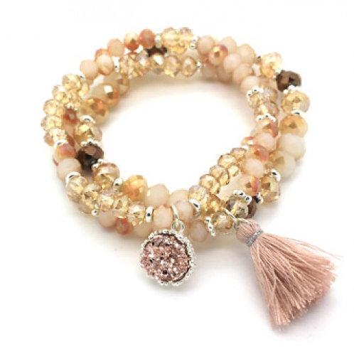 Blush Mix Beaded Bracelet Stack