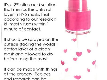 #MAM DIY Anti-Viral Mask Spray