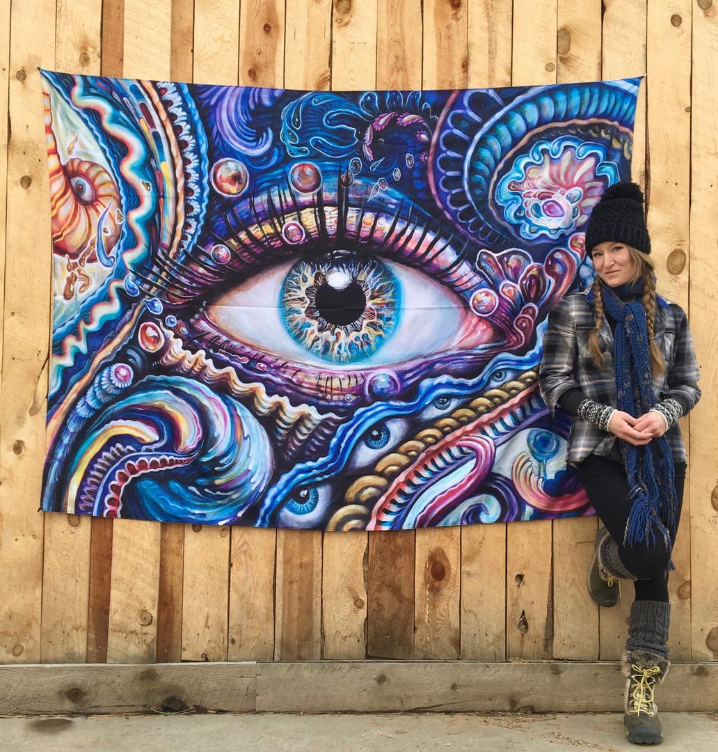 Reflection 1 Tapestry by Morgan Mandala and Randal Roberts