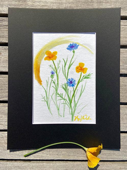 Garden Flower Study - Original Painting