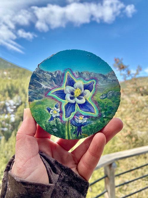 Alpine Columbine - Original Painting