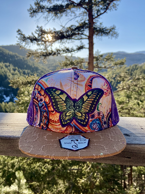 Butterfly Purple Snapback Hat