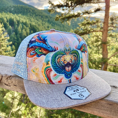 Scarab Blue Snapback Hat