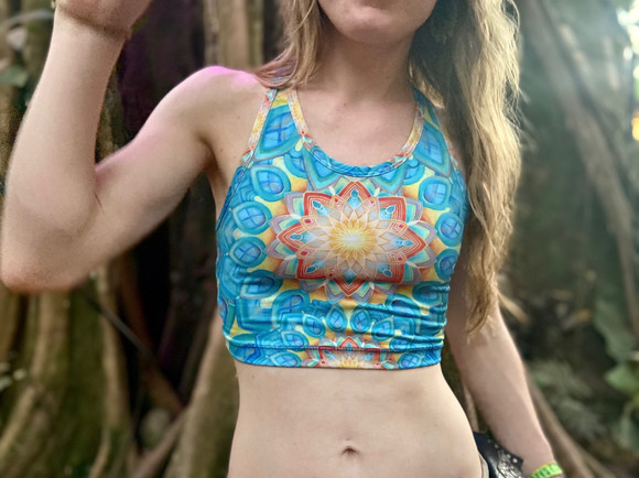 Union Racerback Crop Top by Morgan Mandala