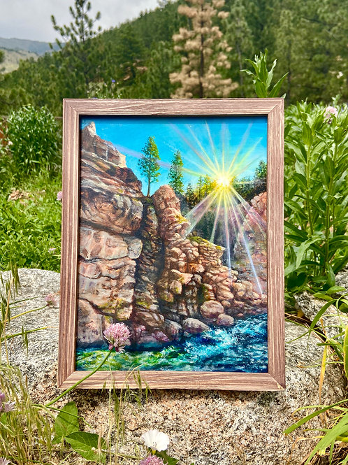 Early Spring on the St.Vrain - Original Painting