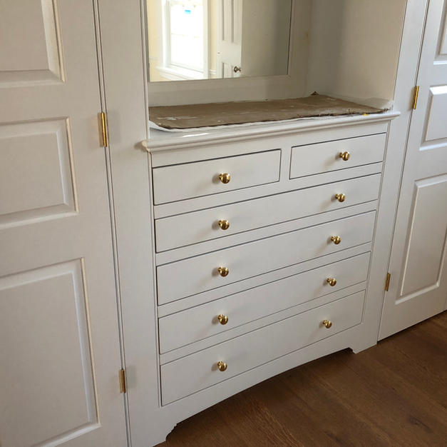 dressing room closets and chest of drawe
