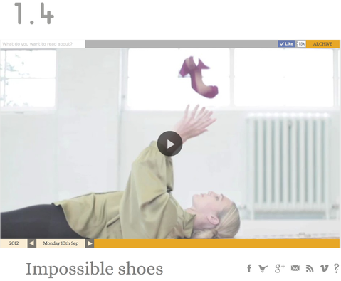 'Impossible Shoes' on 1.4