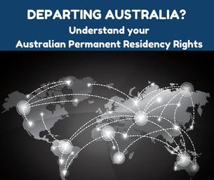 Departing Australia?