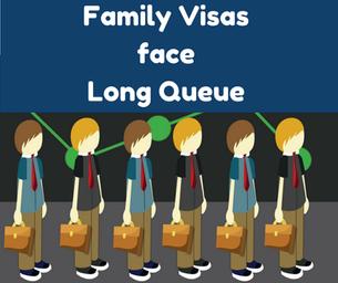 Family Visas face long queue