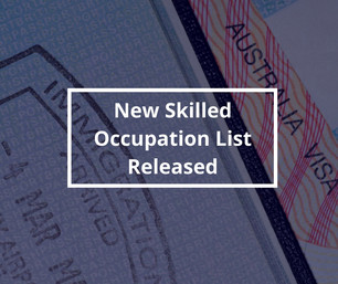 Department of Home Affairs Releases 2018 Skilled Occupation List