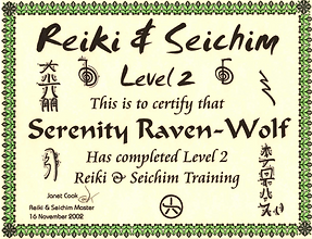 2003: Reiki & Seichim: Level 2 | with Janet Cook