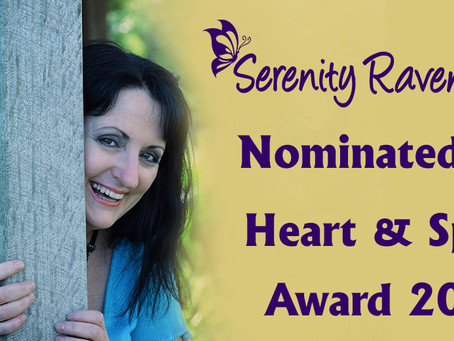 Serenity Raven-wolf nominated for prestigious heart & spirit award 2018