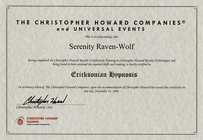 2006: Ericksonian Hypnosis | with Christopher Howard Training