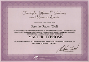 2007: MASTER Hypnosis | with Christopher Howard Training