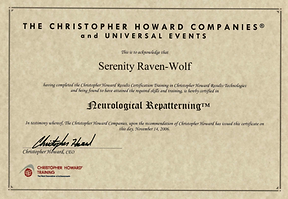2007: Neurological Repatterning | with Christopher Howard Training