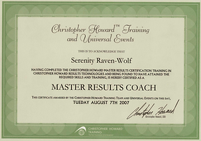 2007: MASTER Results Coach | with Christopher Howard Training