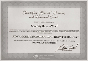 2007: Neurological Repatterning:  ADVANCED Level | with Christopher Howard Training