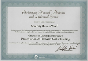 2007: Presentation & Platform Skills | with Christopher Howard Training