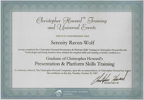 2007: Presentation & Platform Skills | with Christopher Howard Training