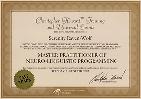 2007: MASTER Practitioner of NLP | with Christopher Howard Training