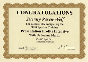 2011: Presentation Profits Intensive | with Dr. Joanna Martin