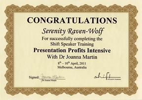 2011: Presentation Profits Intensive | with Dr. Joanna Martin