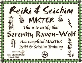 2003: Reiki & Seichim: MASTER | with Janet Cook
