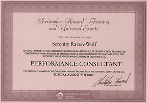 2007: Performance Consultant | with Christopher Howard Training