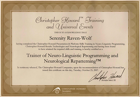 2007: NLP & Neurological  Repatterning: TRAINER LEVEL | with Christopher Howard Training